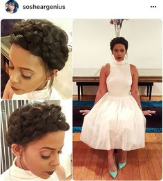 Client Work Spotted! Shop www.deeperthanhair.com #ShearGeniusCollection Messy double crown braid