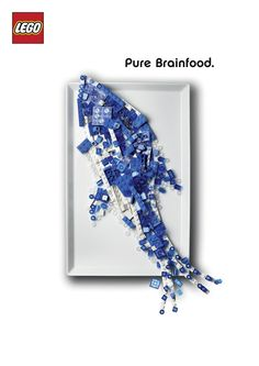 "Lego ""Pure Brainfood"" Ad Campaign - Fonts In Use"