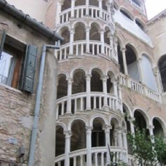 """The """"Snail"""" staircase of courtyard in Venice"""