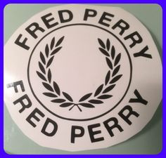 Fred perry die cut self adhesive vinyl decal/sticker vespa decal lml decal BLACK  | eBay