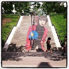 """""""La Parisienne"""" by Zag & Sia, on Rue Chevaleret.                                Secrets of Paris - Private Tours of Paris"""