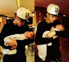 Justin and his baby cousin, Colton