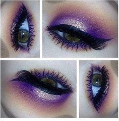 Beautiful purple eyeshadow