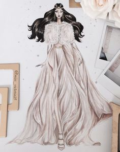 ❥ A tale of fallen kings... @miss_victoria25 #ElieSaab Haute Couture Fall 2017 #FashionIllustrations  Be Inspirational ❥ Mz. Manerz: Being well dressed is a beautiful form of confidence, happiness & politeness