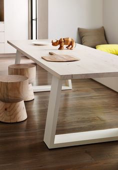 egg cup stools in pine, 380mm diam and 400mm tall