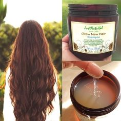 Grow New Hair Shampoo. This shampoo is loaded with nutrients and vitamins from plant extracts, oils and essentials that have been used since ancient times until today.Give your hair the renewed life, increased thickness and volume that leaves all hair typ Curly Hair Styles, Natural Hair Styles, Hair Remedies, Tips Belleza, Hair Shampoo, Hair Health, Grow Hair, Hair Hacks, Hair Tips