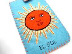 el sol loteria mexicana ipod iphone case by romualda on Etsy, $23.50