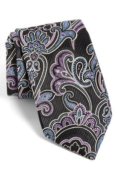 J.Z Richards Paisley Silk Tie