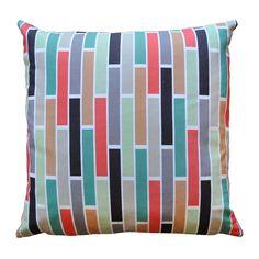 William Stripe Print Cushion - Bubble Tree Design Studio