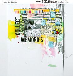 collect memories by mumkaa at @studio_calico Scrapbooking Layouts, Scrapbook Paper, Art Journal Pages, Art Journals, Studio Calico, Mixed Media Collage, Layout Inspiration, Art Sketchbook, Altered Art
