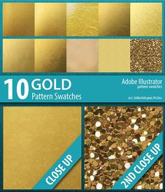 Buy 10 Gold Foil and Sparkle Pattern Swatches by DoucetteDesigns on GraphicRiver. 10 Gold Foil and Sparkle Pattern Swatches This is a set of 10 Gold Foil and Sparkle Pattern Swatches for Illustrator.