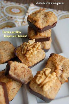 Juste histoire de goûter: Carrés moelleux aux Noix & Coques en chocolat