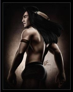 my husband is really Kocoum (from Disney's Pocahontas) reincarnated...