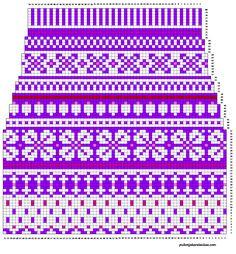 Pitkät kirjoneulesukat varren kaavio Knitting Paterns, Fair Isle Knitting Patterns, Knitting Charts, Knitting Socks, Knit Patterns, Embroidery Patterns, Stitch Patterns, Willow Weaving, Cross Stitch Charts