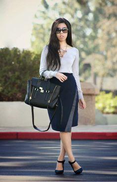 6304f232447 invictus  Asymmetrical Pencil Skirt. Adrienne Nguyen