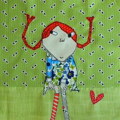 Pippi Block for Muriel by Spotted Stone Studio {Krista}, via Flickr