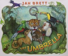 A walk through the Costa Rican cloud forest provides a wonderfully lush setting for Jan Brett's beloved animal illustrations. When Carlos drops his umbrella to climb a tree for a better view of the an