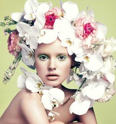 ❀ Flower Maiden Fantasy ❀ beautiful photography of women and flowers - Elle Vietnam