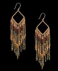 Nakamol Multi Chain Chandelier Earrings