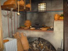 Roman kitchen  More @ FOSTERGINGER At Pinterest