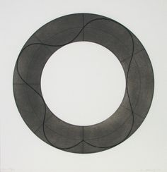 Robert Mangold (b. 1937, American) | Ring Image B 2008 Screenprint 30 3/4 x 29 1/2 in. Edition of 35 Pencil signed & num...