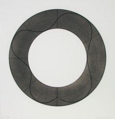 Robert Mangold (b. 1937, American) | Ring Image B 2008 Screenprint 30 3/4 x 29 1/2 in. Edition of 35 Pencil signed & num...