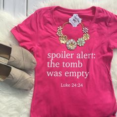 Spoiler Alert: The Tomb was Empty Vneck Christian Shirt