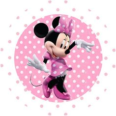 Minnie Mouse: Free Printable Toppers or Labels in pink. Check out the full set