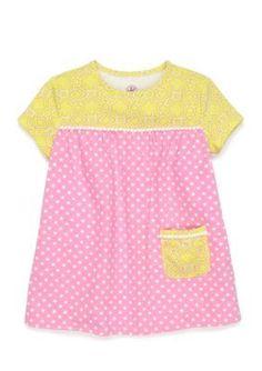J. Khaki Tropic Lime Babydoll Top Toddler Girls