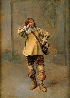 Ernest Meissonier - Gentilhomme frisant sa moustache