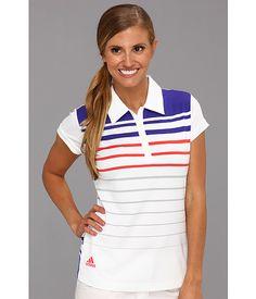 adidas Golf ClimaLite® Stripe Polo White 1 - Zappos.com Free Shipping BOTH Ways
