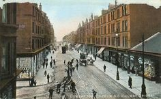 Dumbarton Road & Hayburn Street leading to the Partick tram depot. My childhood home but before my time. Remember Hoey's on the corner tbough. Glasgow Scotland, England And Scotland, Old Pictures, Old Photos, Paisley Scotland, Family History Book, West End, Street View, London