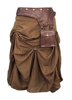 The Violet Vixen - Burnished Empire Steampunk Brown Skirt, $105.00 (http://thevioletvixen.com/clothing/burnished-empire-steampunk-brown-skirt/)