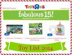 Toys R Us Toy List for 2014