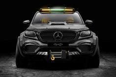 If you thought the Mercedes-Benz X-Class pick-up truck was the final work in luxury off-road vehicles, you haven't seen Carlex Design's EXY Mercedes 6x6, Mercedes Truck, Mercedes Benz Amg, 6x6 Truck, Pickup Trucks, Mercedez Benz, Benz S, Toyota Hilux, Toyota Tundra