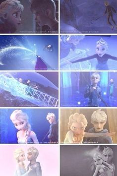 Queen Elsa and Jack Frost. Click the picture and go to the attached website for a cute video. Wow, must've been a lot of work.