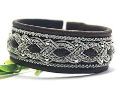 Sami Lapland Swedish Viking braided armband Wide by ScandicraftRU