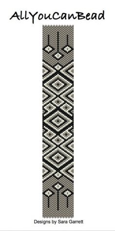 Peyote Bracelet Pattern 810 Bead Weaving INSTANT por AllYouCanBead