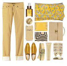 """marigold and bold yellow"" by katymill ❤ liked on Polyvore featuring Oscar de la Renta, prAna, Marni, Joseph, MICHAEL Michael Kors, Fendi, Chanel, Kate Spade, Clarins and Oribe"