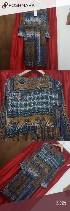 $35 ZARA Multi Print Ladies dress. NWT multi print long dress ZARA Zara Dresses Maxi