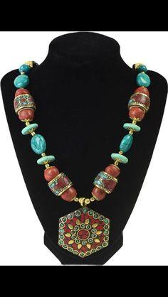 Bohemian Stone Necklace  www.desideratadecor.com