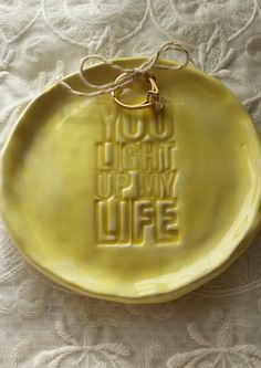 Wedding Ring Dish Engagement You Light Up My by Angelheartdesigns, $18.00
