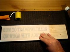 How To Transfer Image On Wood With Acetone - Part 2.wmv