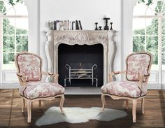 "This baroque armchair of Louis XV style has a beautiful ""Toile de Jouy"" fabric with red scenes on beige/ecru with a perfect comfort. Wood color is beige Wood, Wood Colors, Jouy, Country Chic, Louis Xv, Furniture Styles, Interior, Armchair, Home Decor"