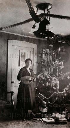 A Mandolin for Christmas Vintage Photo by SunshineBooks on Etsy