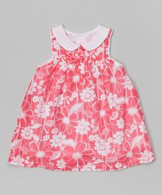 This Red Southern Floral Dress - Infant & Toddler by Chou Chou Baby is perfect! #zulilyfinds