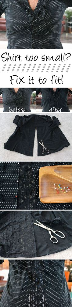 Fitness Women& Clothes - Simple alterations can make that too-tight, ill-fi. , Fitness Women& Clothes - Simple alterations can make that too-tight, ill-fi. Fitness Women& Clothes - Simple alterations can make that too. Sewing Hacks, Sewing Tutorials, Sewing Crafts, Sewing Projects, Sewing Patterns, Diy Crafts, Sewing Tips, Knitting Patterns, Crochet Patterns