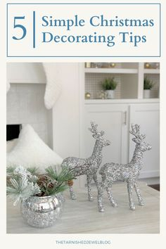 Looking for quick, easy, & budget-friendly ways to decorate for the holidays this year? Try 5 Simple Christmas Decorating Tips by thetarnishedjewelblog.com. #christmasdecoratingtips #easychristmasdecor #simplechristmasdecor #simplechristmas #simplechristmastree #christmasdecor #christmasdecoratingideas #whitechristmasdecor #holidaydecorating #holidaytips #holidaydecor #holidaydecoratingideas #christmastray Wall Christmas Tree, Christmas Mantels, Simple Christmas, Christmas Themes, Christmas Tree Decorations, Christmas Diy, White Christmas, Yarn Trees, Fabric Tree