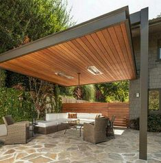 nice color contrasts Pergola Designs, Patio Ideas