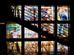 Sarre : les vitraux de la Caisse d'assurance retraite de Sarrebruck